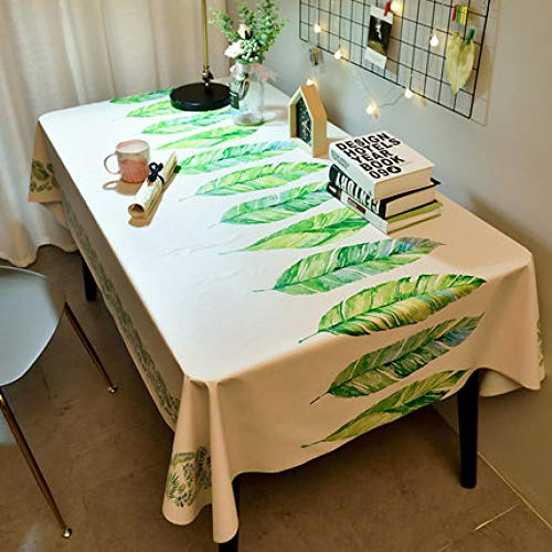 Traann Oilcloth Tablecloth, vierkant tafelkleed, vouwbare tafelhoes, waterdicht polyester, katoen, landelijke tuin, voor keuken, furniture modeprint 110*160 F