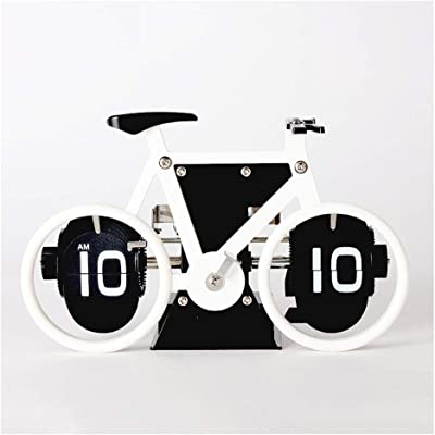 A-ZHP Reloj de Escritorio Bicicleta Reloj Creativo Reloj mecánico de Metal Reloj clásico Europeo Flip clásico Pantalla Digital mecánica Reloj de Escritorio de Moda Simple (Color : C): Amazon.es: Hogar