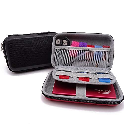 Preisvergleich Produktbild Hosoncovy Tragbare wasserdichte Hard USB Flash Drive Hülle,  stoßfest,  elektronisches Zubehör Organizer Reise Tasche für USB Flash Drive Kabel Kopfhörer SD Karte Festplatte Power Bank