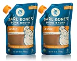 Bare Bones Chicken Bone Broth for Cooking and Sipping, Pasture Raised, Organic, Protein and Collagen...