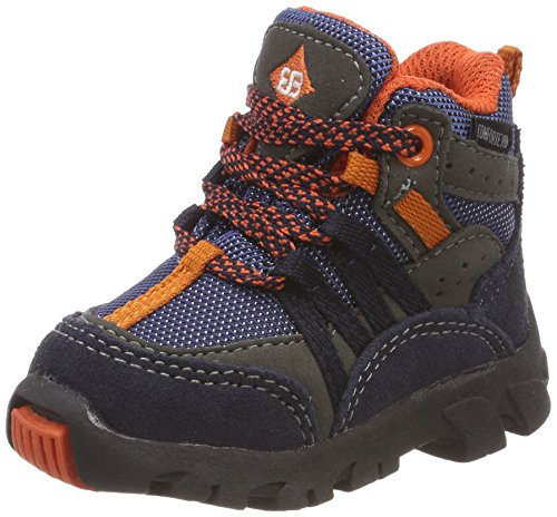 Brütting Baby Jungen Moritz Tex Stiefel, Blau (Marine/Grau/Orange Marine/Grau/Orange), 28 EU