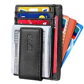 Zitahli Front Pocket Wallet For Men Slim Money Clip Wallet With Strong Magnetic Closure RFID Blocking