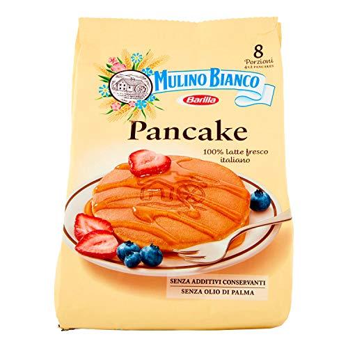 Mulino Bianco Pancake, per Colazione e Merenda, Senza Olio di Palma e Additivi Conservanti - Confezione da 8 Porzioni, 280 gr