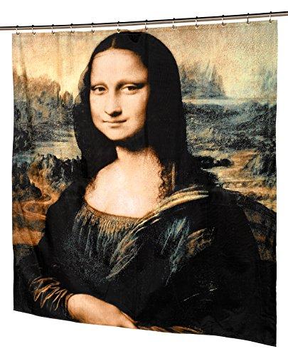 Carnation Home Fashions Duschvorhang aus Stoff Mona Lisa