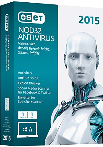 ESET NOD32 AntiVirus 2015 - 1 PC [import allemand]