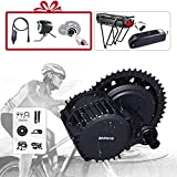 BAFANG BBS02B 48V 750W Electric Bike Mid Drive Motor DIY Ebike Parts Ebike Conversion Kit (Chainring Wheel T44+Display 860C)
