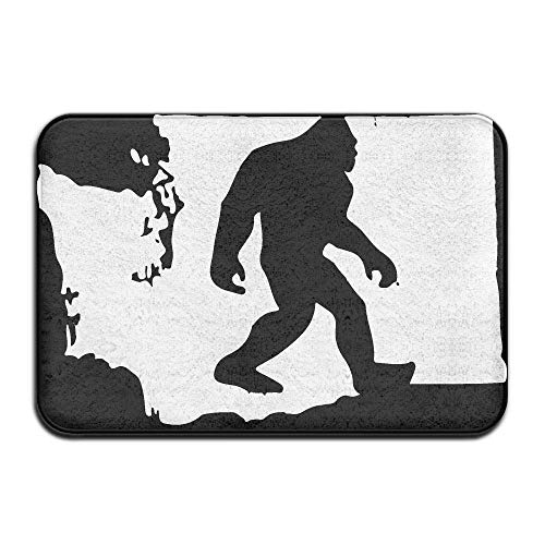 songliangq Inside & Outside Doormat Washington State Bigfoot-1 Design Pattern Pet Cat Dog Feeding Mat