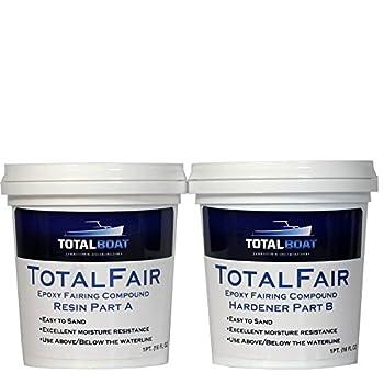 TotalBoat-409337 TotalFair Marine Epoxy Fairing Compound for Fiberglass Wood Aluminum and Steel  Gallon Kit