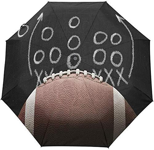 American Football Regenschirm Sport Tactics Auto Regenschirm Compact Anti-UV Travel Windproof Parasol