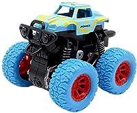 慣性回転車8.5cm * 9cm * 7cmTāyysキッズ摩擦力オフロード1ピース4WD車種慣性車Tıys子供誕生日プレゼント l (Color : BLUE)
