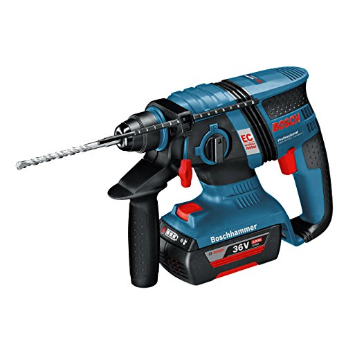 Bosch Professional GBH 36 V-EC Compact Cordless Rotary Hammer Drill + 36 V 2.0 Ah Lithium-Ion Battery, L-Boxx