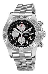 Breitling Men's A1337011/B973 Super Avenger New Black Chronograph Dial Watch image