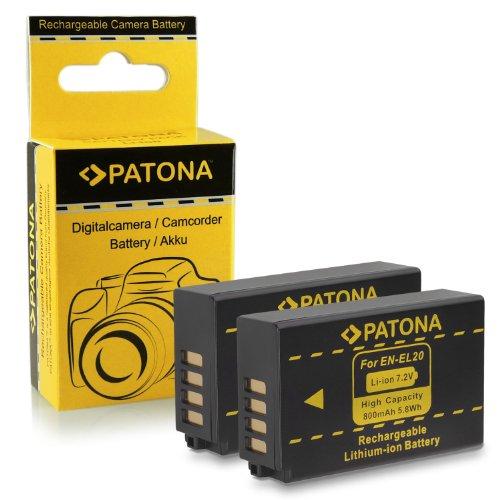 2x Batería EN-EL20 para Nikon 1 J1 | 1 J2 | 1 J3 | 1 S1 | Coolpix A
