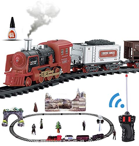 Haktoys RC Classical Train Set, Battery Operated Ready to...