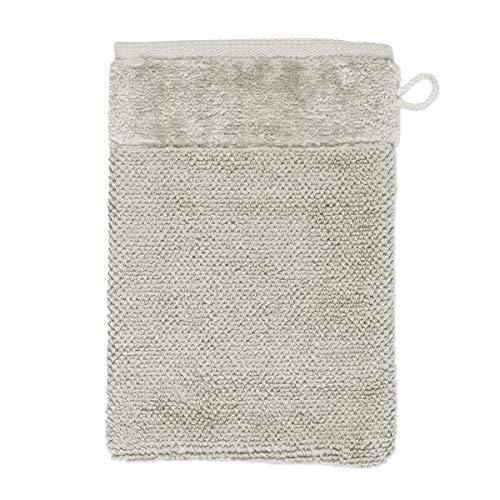 MÖVE Bamboo Luxe Gant de Toilette 15 x 20 cm, Fabriqué en Allemagne, 60% coton / 40% viscose en pulpe de bambou, Silver Grey (Gris)