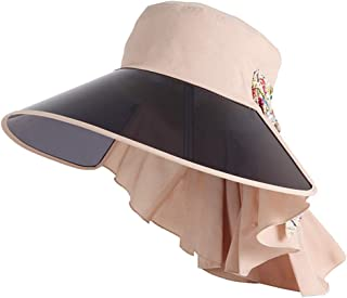 Hats Uv Sun Hat Beach Hat with Large Eaves Hat Lady's Sunshade Summer Outdoor Sun Hat Fashion (Color : Beige)