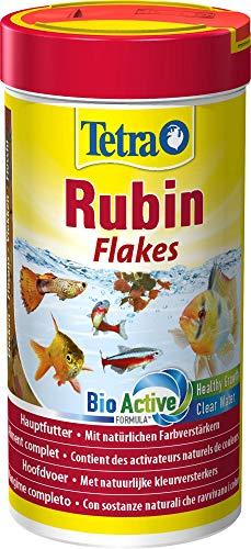TetraRubin Hauptfutter (für Zierfische, für intensive Farbenpracht mit natürlichen Farbverstärkern, plus Präbiotika für verbesserte Körperfunktionen und Futterverwertung), 250 ml Dose