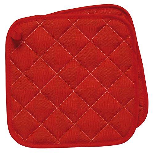 Excelsa Passione Colore Set 2 Presine da Cucina, Cotone, Rosso, Dimensioni: 20 x 20 cm