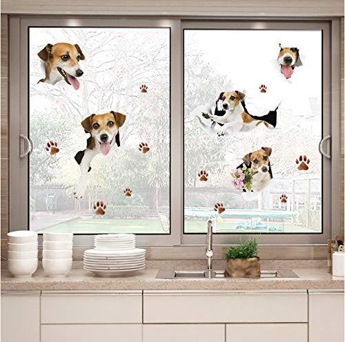 hfwh Muurstickers, Mooie Hond 3d Effect Slaapkamer Woonkamer Verwijderbare Koelkast Raamkast Decal Decoratie Art Mural 50x70cm