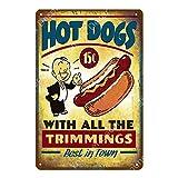 ALLYAOFA Klassische Hot Dogs Hamburger Vintage