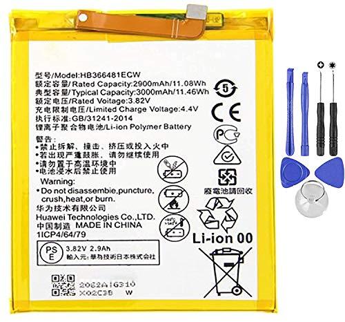 Batería compatible con Huawei Honor 8 HB366481ECW de alta capacidad 3000 mAh con kit destornilladores incluido