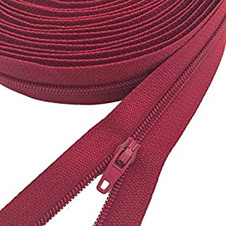 QXFD 10 Meters 25 Colors Nylon Coil Zippers with 20pcs Auto lock Zipper Slider - Supplies for Tailor Sewing Crafts (Color ...