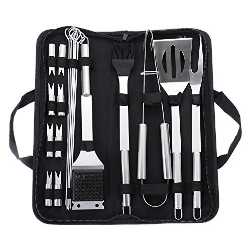 Buy Bargain LAYUE Stainless Steel BBQ Tools Set - Grilling Utensil Accessories Camping Outdoor 20pcs...