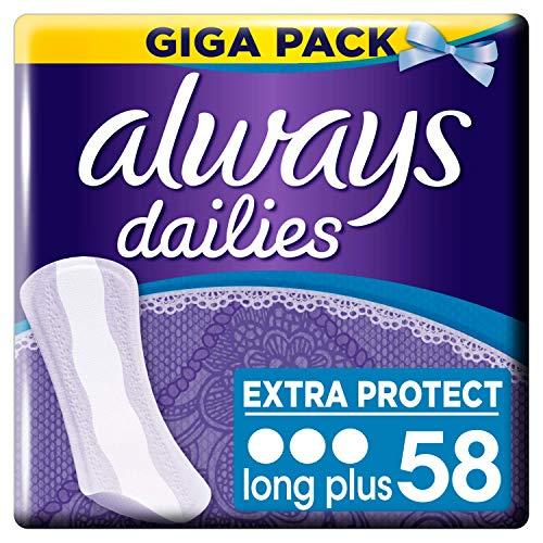 Always - Dailies Extra Protect Long Plus Inlegkruisjes - 58 Stuks