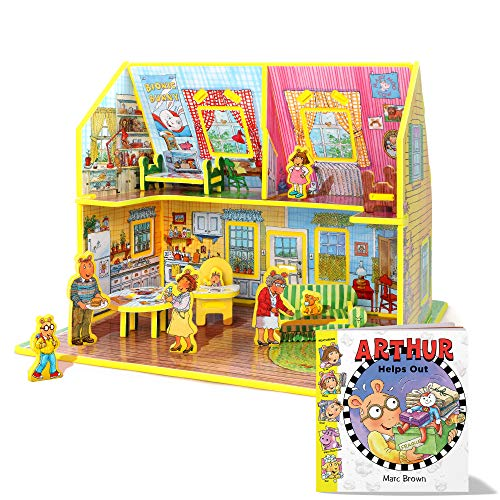 STORYTIME TOYS Arthur Toy House 3D Puzzle - Book and Toy Set - 3 in 1 - Book, Build, and Play