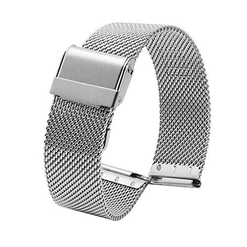 Correa de Reloj Cadena de Reloj Fina para Hombres y Mujeres Seiko Acero Inoxidable Liberación rápida Longitud Ajustable Compatible, Rosegold-13mm