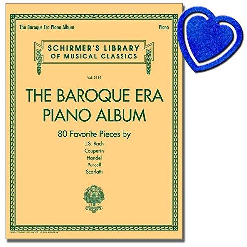 The Baroque Era Piano Album - 80 piano stukken uit de barok - scherm Library Volume 2119 - [noten/Sheetmusic] - met kleurrijke hartvormige muziekklem