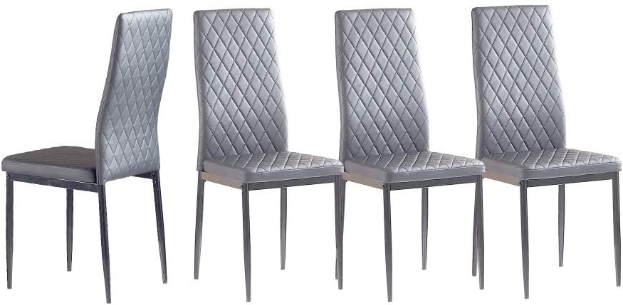 Dining Chair Set of 4 PU seat Chairs backrest H Kitchen At the price 2021 new and for
