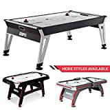 ESPN Sports Air Hockey Game Table: 84 Inch Indoor Arcade Gaming Set with Electronic Overhead Score System, Sound Effects, White/Black (AH084Y19038)