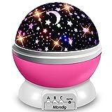 Moredig Lampara Proyector Infantil, 360° Rotación y 8 Modos Iluminación Proyector Estrellas, Luz de Nocturna para...