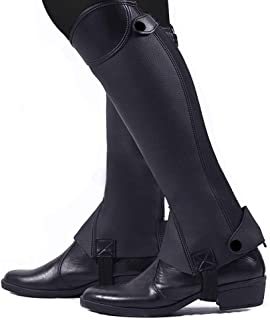 Soft Leather Equestrian Horse Riding Gaiters 1 Pair Half Chaps Leg Covers Outdoor Horse Riding Racing Leg Protector Equipm...