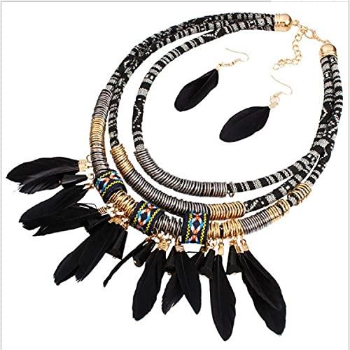 La versión Coreana de los nuevos Collares de Perlas fijó la joyería de la Boda para el Diamante de la Novia y el Conjunto de Collares de Dos Piezas (2 en uno) TINGG