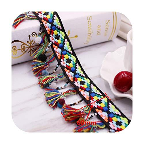 Hopereo 1Yards Silk Tassel Fringe Trim Tassel Lace Ribbon Pompom Trim Fabric Sewing Tassels for Jewelry DIY Materials Accessory Tassels-13. Ls-080