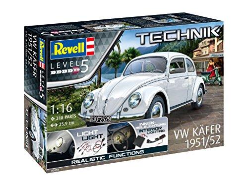 """Revell 00450 Volkswagen VW Käfer""""Brezelkäfer"""" (1951/1952), Maßstab 1:16, Länge ca. 25,9 cm"""