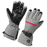 rosenice 加熱された手袋冬の暖かい手袋熱加熱された手袋サイクリングバイクハイキングスノーボード屋外ウィンタースポーツ用ハンドウォーマー