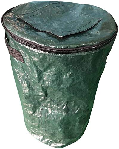 Amazing Deal Zxcv Collapsible Compost Bin, Garden Yard Waste Bag Composting Fruit Kitchen Waste Ferm...