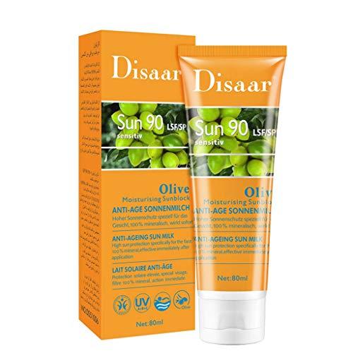 Louyihon Crema Facial para El Cuerpo, Protector Solar, Blanqueamiento, Crema Solar, Crema Protectora para La Piel (D)