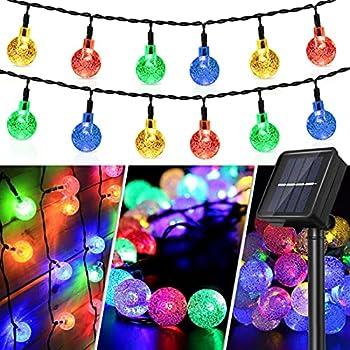 50 LED Crystal Globe Waterproof Solar String Lights (Multicolor)