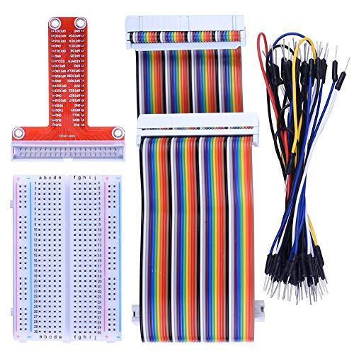 Breakout Erweiterungsset Steckplatine Raspberry Pi T-Type Board Jumper Wires Tie Points lötfreies Verlängerungskabel