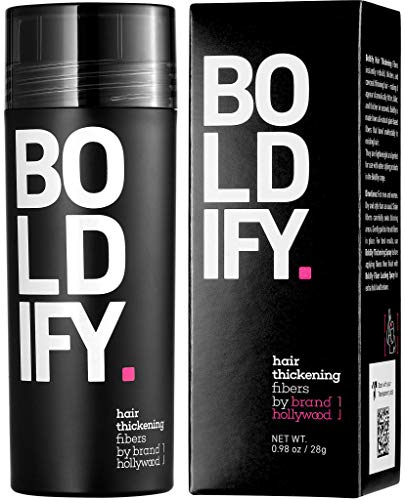 BOLDIFY Hair Fibers for Thinning Hair (GREY) 100% Undetectable Natural Fibers - Giant 28g Bottle - Completely Conceals Hair Loss in 15 Seconds - For Women & Men