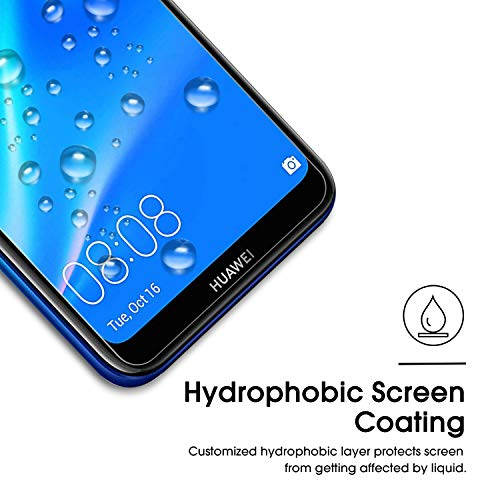 OMOTON [2 Stück] Panzerglas Schutzfolie für Huawei Y7 2019/ Huawei Y7 Prime 2019 (6.26 Zoll), Anti- Kratzer, Bläschenfrei, 9H Härte, HD-Klar, [2.5D Runde Kante] - 3