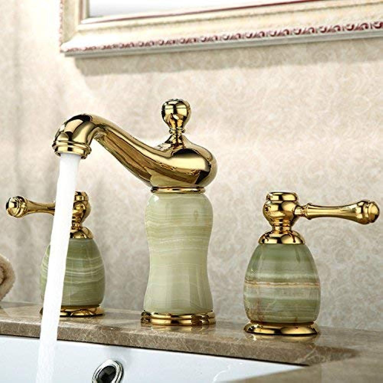 MARCU Home Wasserhahn Becken Wasserhahn Kupfer Becken Jade Keramik Warmen und Kalten Waschbecken Wasserhahn