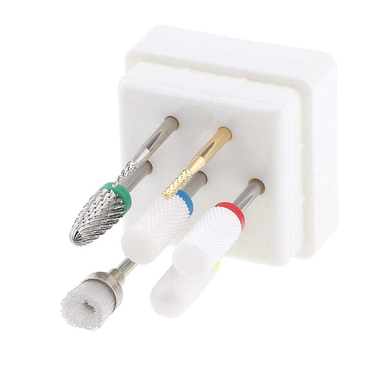 失スリップきつくF Fityle 7個入 ネイルアート 電気ドリルビット セラミック 耐久性 安全性