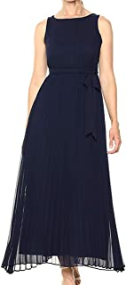 Sharagano Women's Pleated Maxi Dress