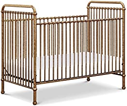 Million Dollar Baby Classic Abigail 3 in 1 Convertible Iron Crib, Vintage Gold
