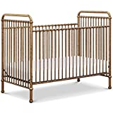 Million Dollar Baby Classic Abigail 3-in-1 Convertible Iron Crib in Vintage Gold